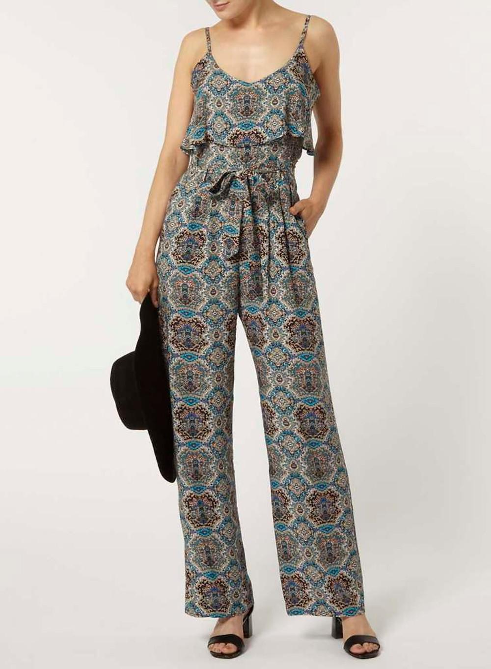 Dorothy Perkins - Combi-pantalon bleue à volants 20€