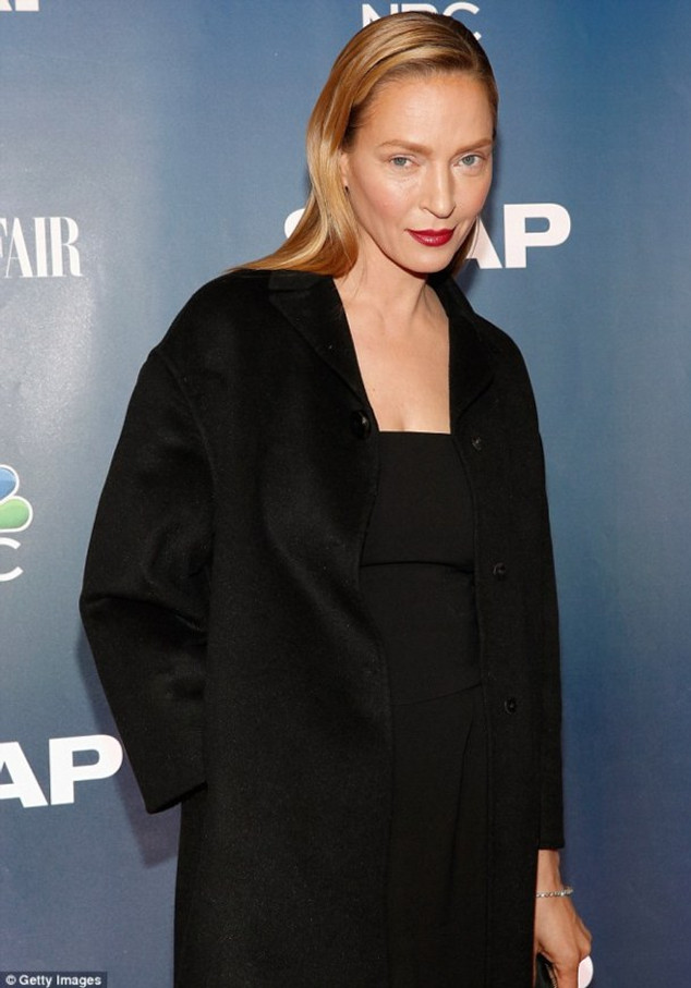 Uma Thurman was looking decidedly different as she attended the NY premiere party for her new miniseries The Slap on Monday.