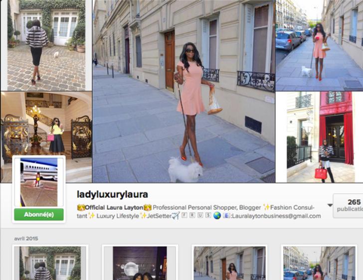 Compte Instagram de Laura Layton : ladyluxurylaura