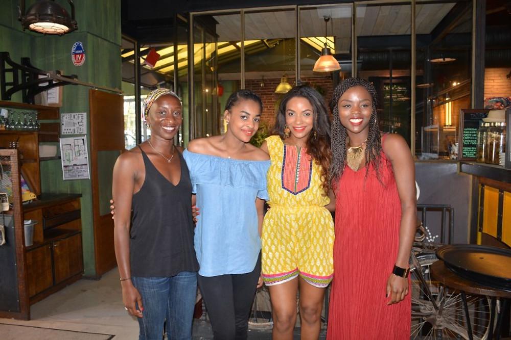Avec Tagati, Myriam et Francette