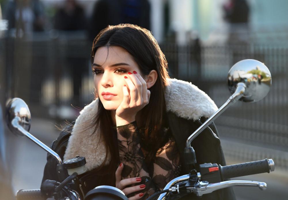 Behind the scenes on an Estée Lauder ad shoot with Kendall Jenner. Photo courtesy of Estée Lauder