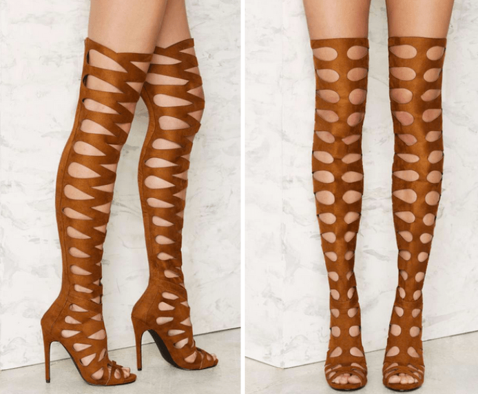 Privileged One Hit Over-the-Knee Stiletto Heel - Brown €118,00 €71,00 (40% OFF)