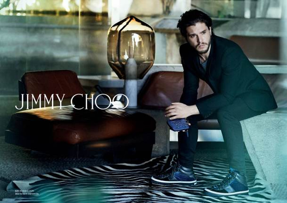 CAMPAGNE COLLECTION HOMME JIMMY CHOO AUTOMNE HIVER 2014 AVEC KIT HARINGTON