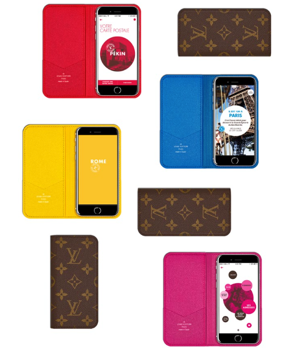 Pour accompagner l'application Louis Vuitton City Guide, la Maison propose une petite maroquinerie en toile Monogram éditée en série limitée. Disponible pour iPhone 6 et iPhone 6 Plus, cette nouvelle série d'étuis est pour l'occasion doublée de 4 couleurs inspirantes en référence à la collection : le bleu de Paris, le jaune de Rome, le rouge de Pékin et le rose de Tokyo. Un accessoire de mode indispensable qui, en plus d'être élégant, est aussi le moyen idéal pour personnaliser son iPhone ou iPad lors d'un voyage.