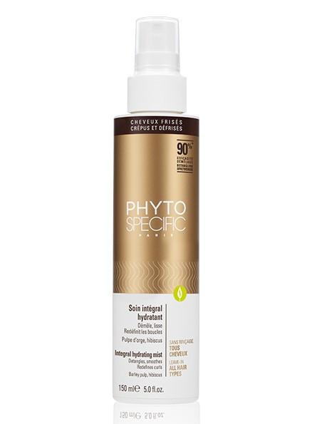 Phytospecific : Soin Intégral Hydratant A la pulpe d'Orge, Hibiscus. Aide précieuse pour le coiffage, ce soin super démêlant, non rincé, aux propriétés ultra-hydratantes et protectrices, apprivoise au quotidien les cheveux.