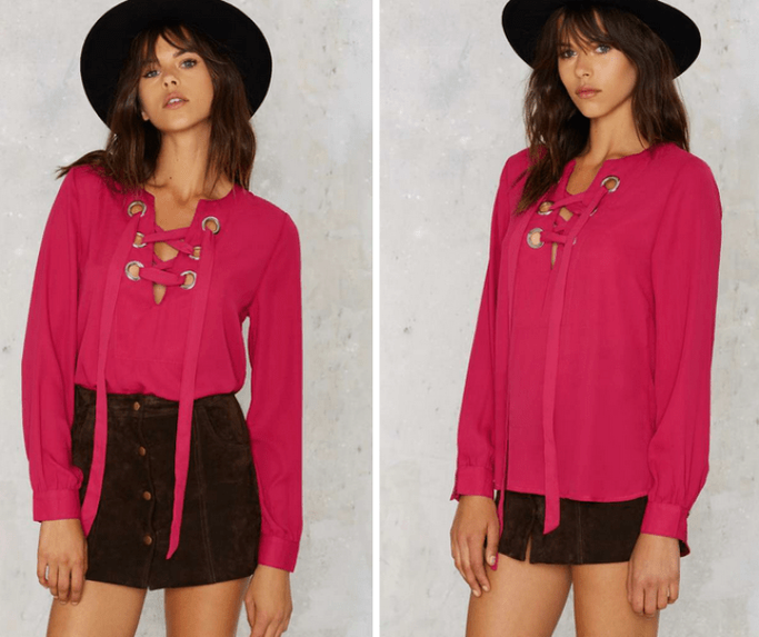 In A Bind Lace-Up Top €46,00 €19,00 (59% OFF)