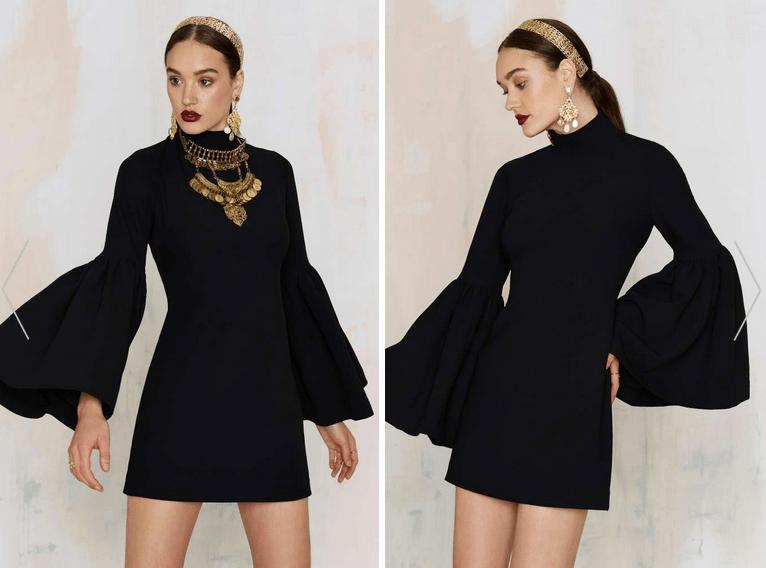 Nasty Gal Kiss and Bell Mini Dress - Black €77,00 €46,00 (40% OFF)