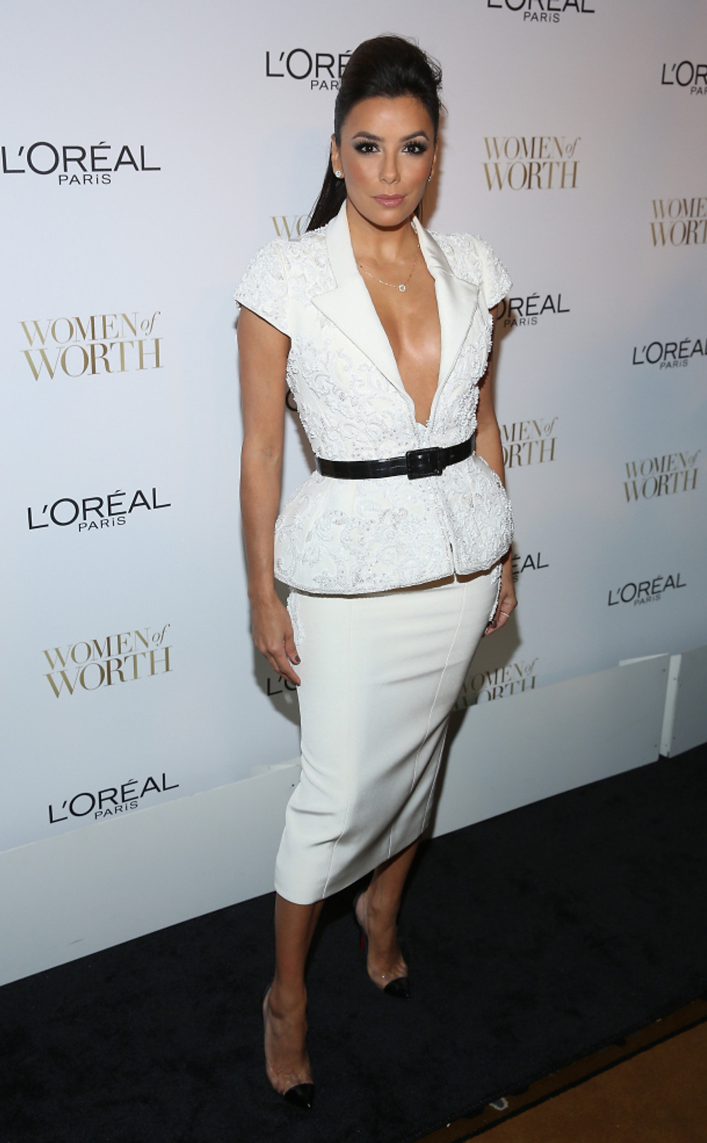 EVA LONGORIA WEARS RALPH & RUSSO COUTURE TO L'OREAL WOMEN OF WORTH
