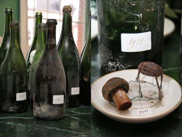 Une bouteille vintage de Perrier Jouet.