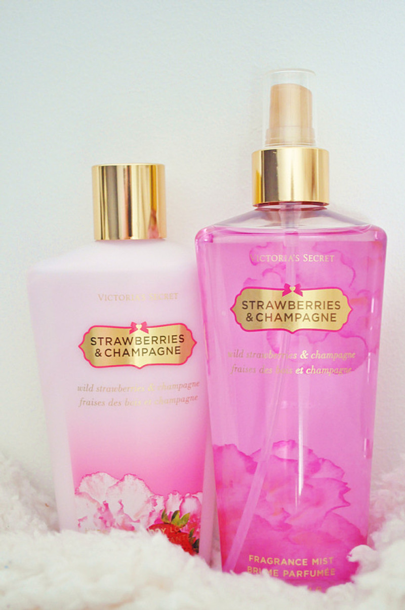 STRAWBERRIES AND CHAMPAGNE VICTORIAS SECRET