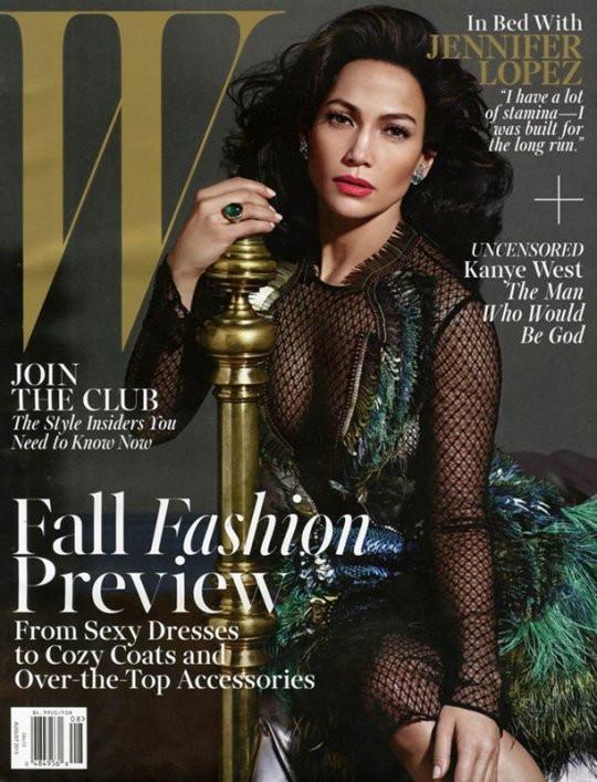 JLO sur la couv' de W Magazine
