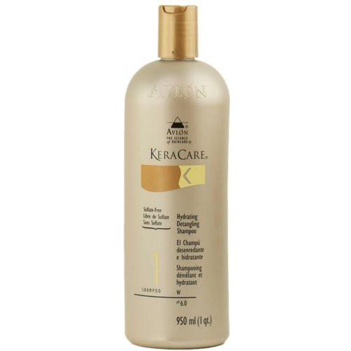 Keracare Shampooing Démêlant et Hydratant. pH équilibré et excellent sur cheveux défrisés, permanentés ou colorés. Avantages : hydrate et revitalise les cheveux. Répare les cheveux abîmés. Facilite le démêlage et laisse les cheveux doux et brillants. 11€ les 240ml