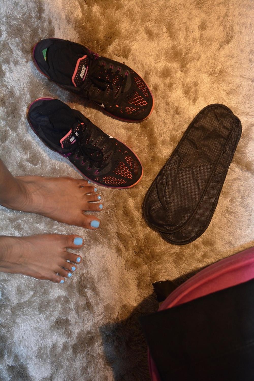 troquer ses baskets pour des chaussons au milieu de la journée, quel régal !