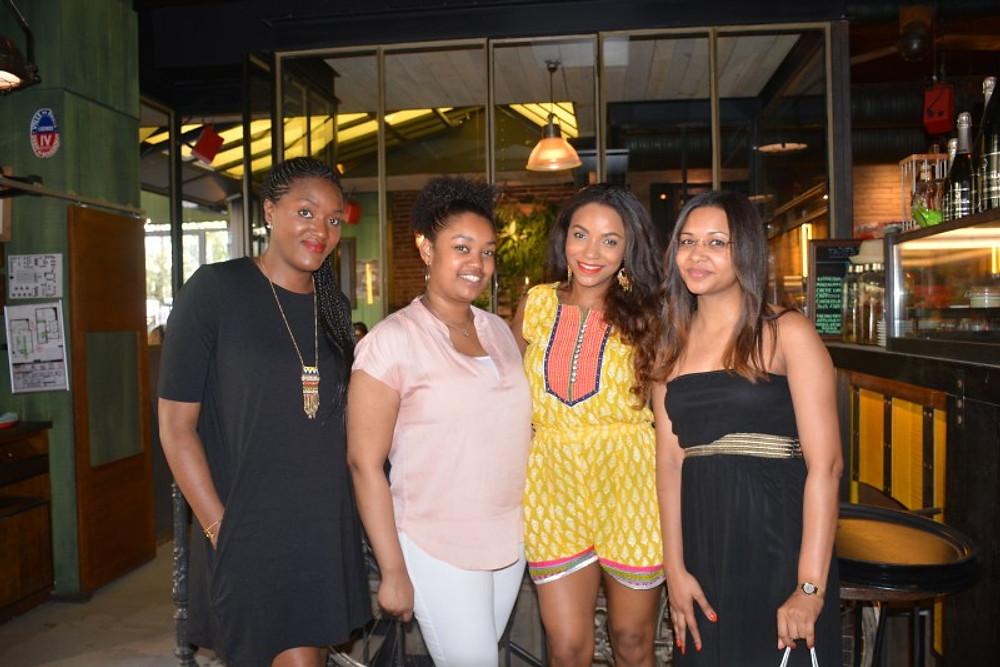 Avec Fatou, Mariama et Edwige