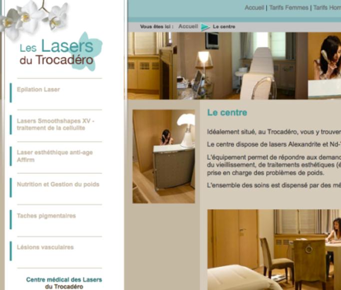 Centre médical des Lasers du Trocadéro 46 Avenue du Président Wilson 75016 PARIS Tel : 01 45 05 20 20
