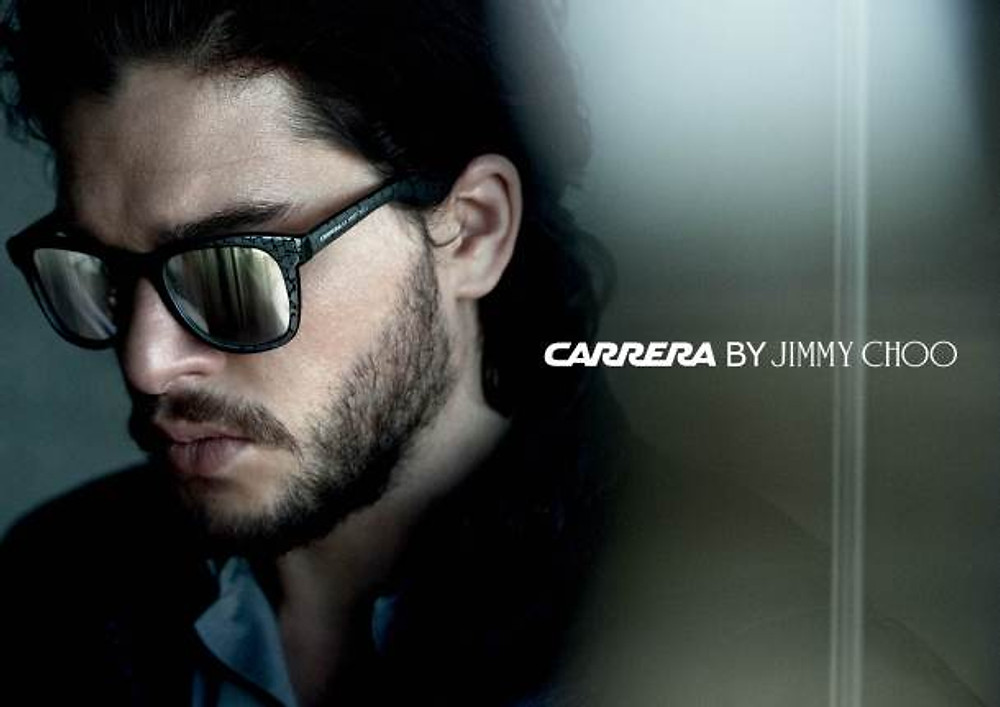 CAMPAGNE COLLECTION CAPSULE CARRERA BY JIMMY CHOO AVEC KIT HARINGTON