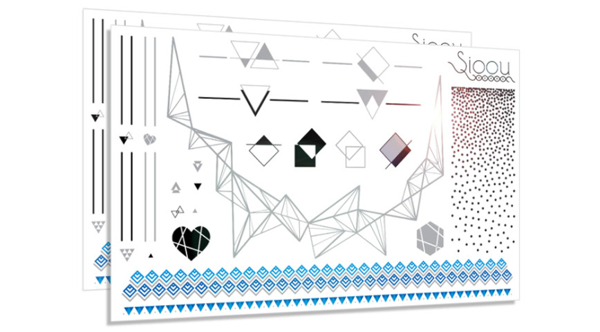 TATOUAGES DE PEAU : Dots & Lines by SIOOU 19,90€