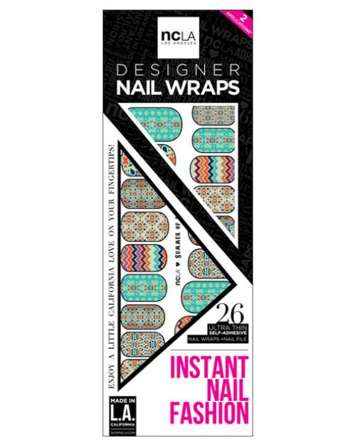 Les nail wraps Summer of Love de NCLA, 14 €.
