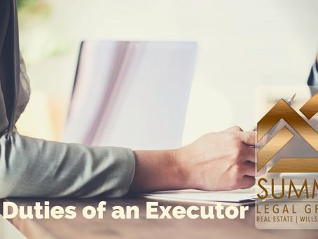 Duties of An Executor