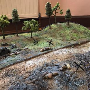 WWII Battlefield Diorama