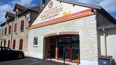 Champagne Gauthier facade magasin