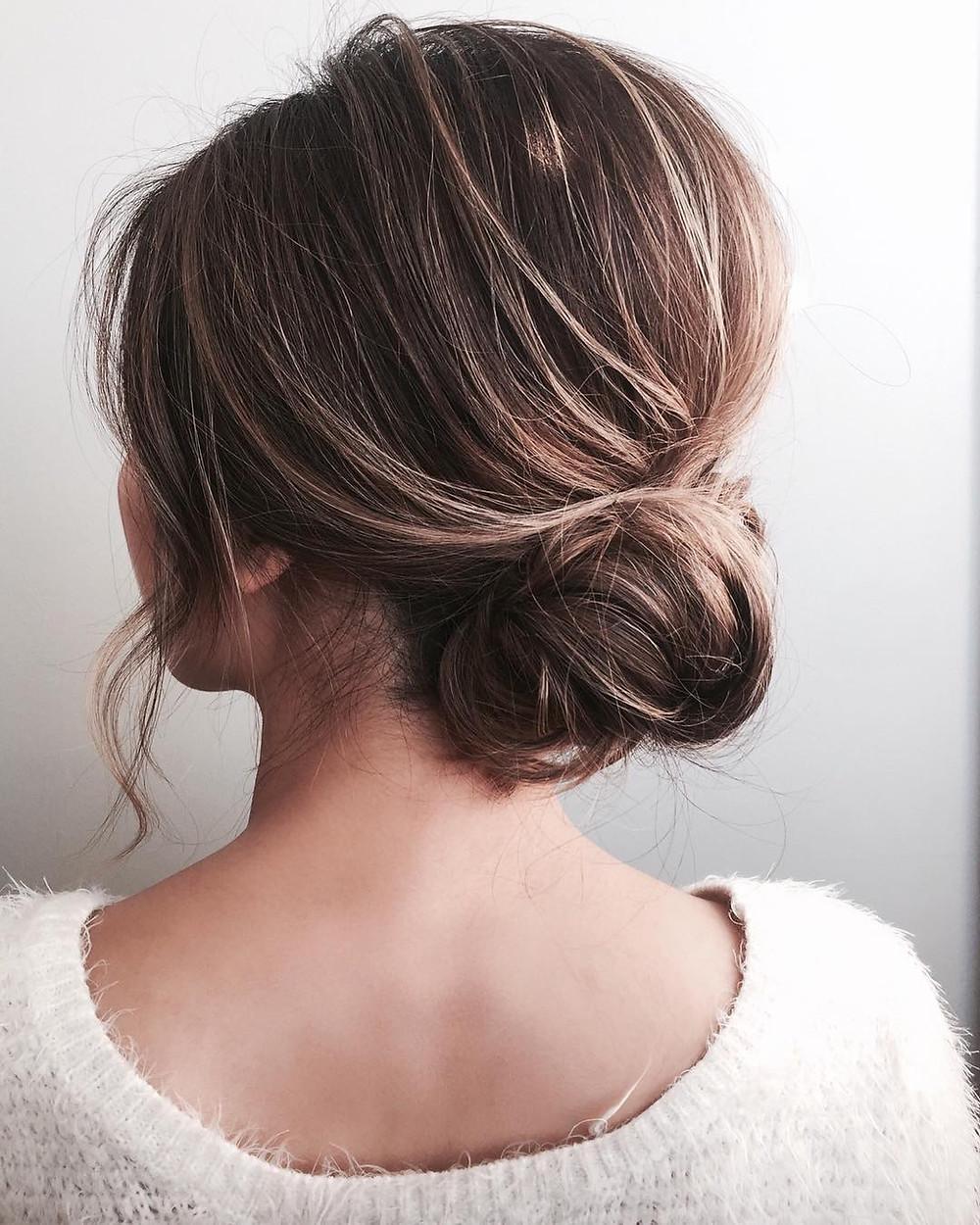 Naked Romantic Bridal Hair Bun
