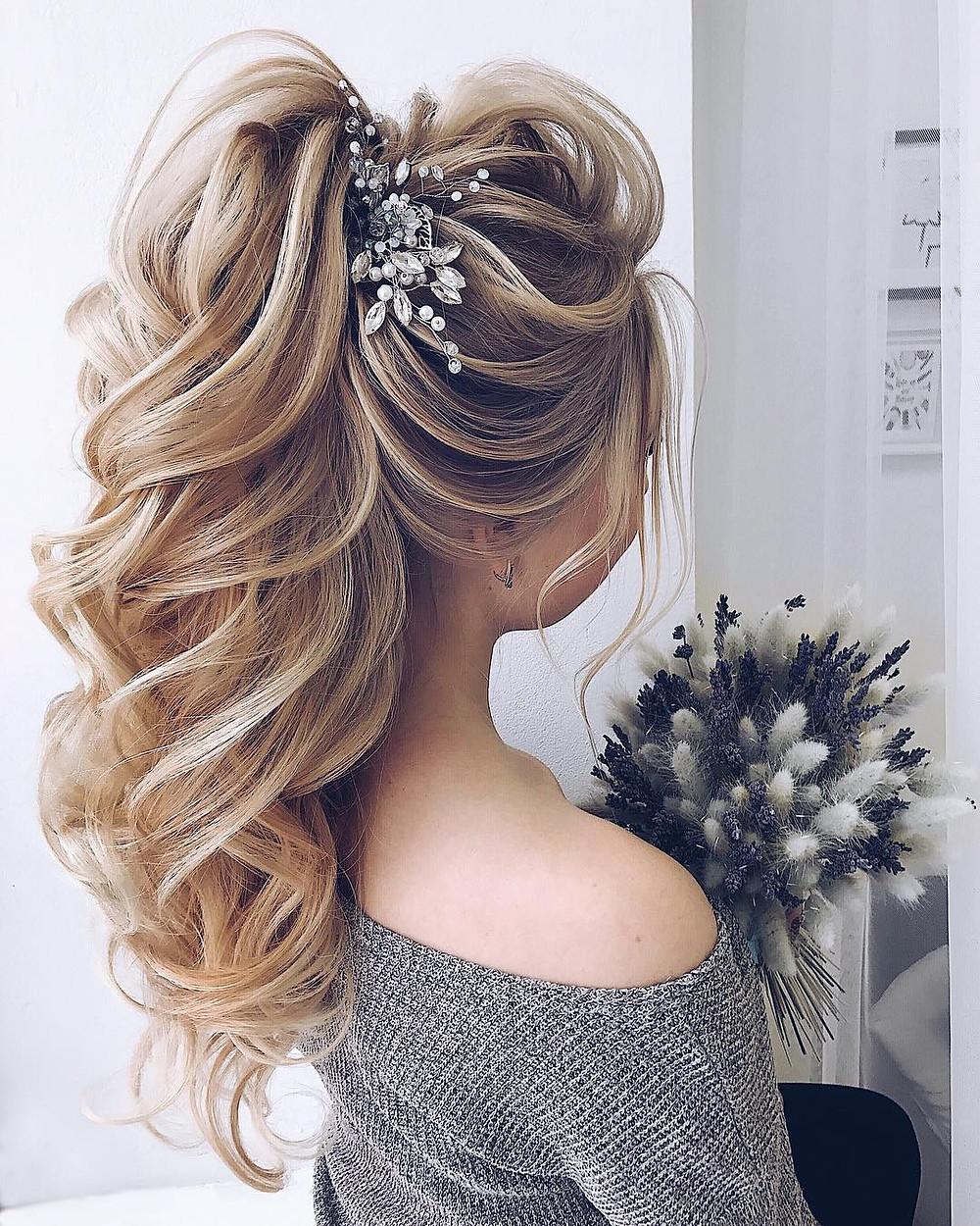 Long Elegant Bridal Hair Pony
