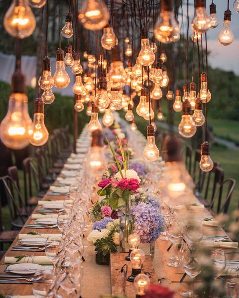 Festival Wedding Table Decor