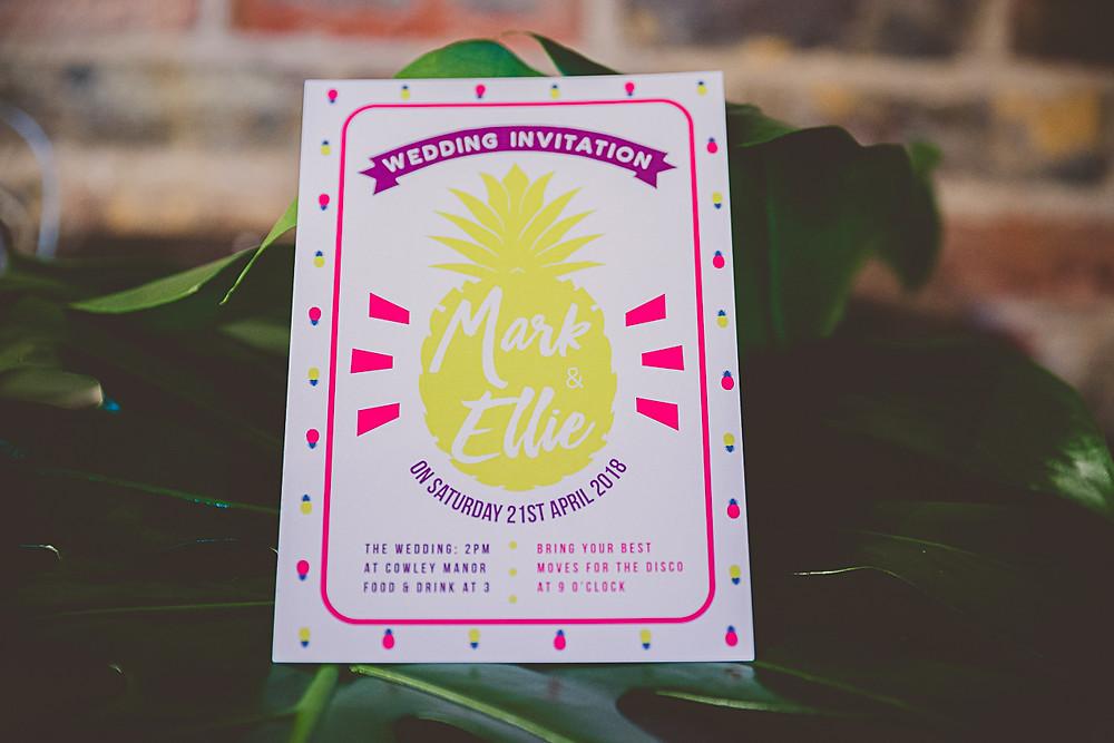 Pineapple Wedding Invitation Mojito Paper Co