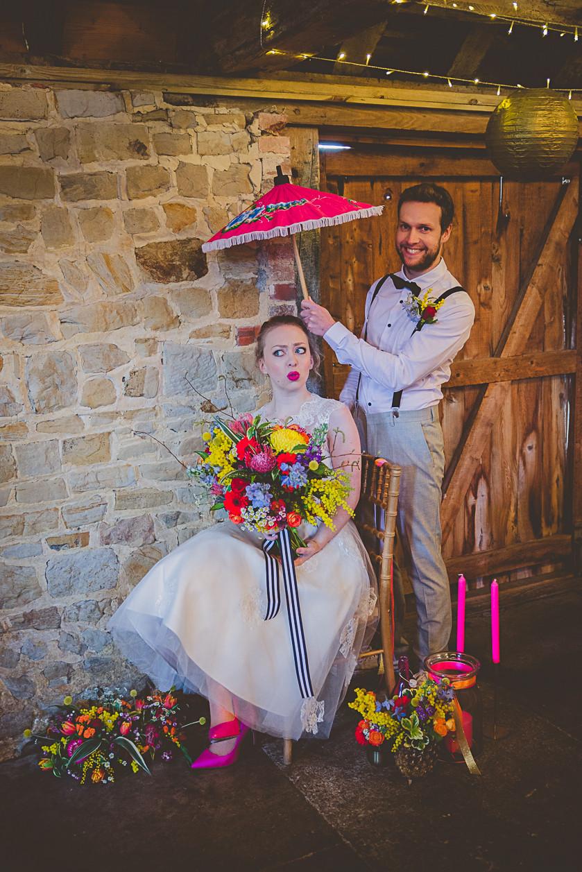 Pineapple Wedding Festival Inspired Couple