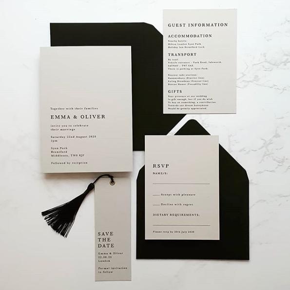 Black and White Tassel Stationery