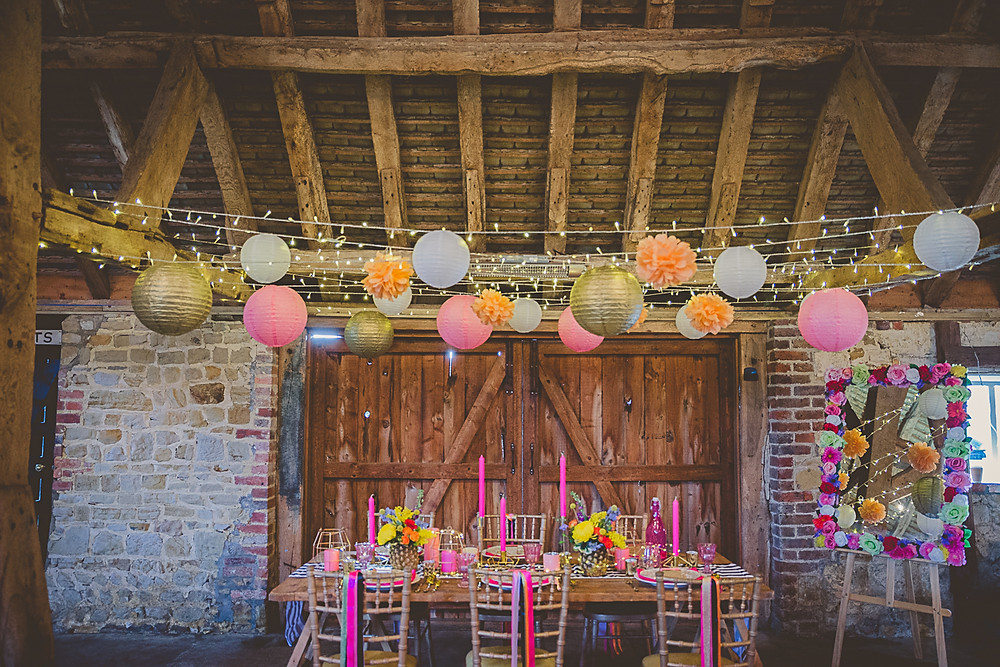 Colour Pop Occasions Lantern Installation Wedding