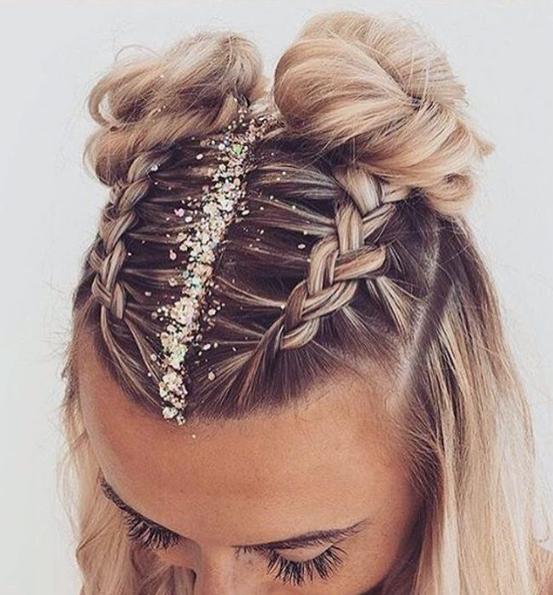 Hair Glitter Wedding Style