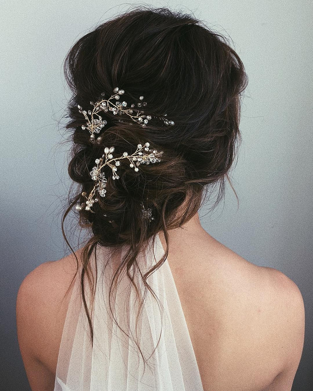 Romantic Style Bridal Hairstyle