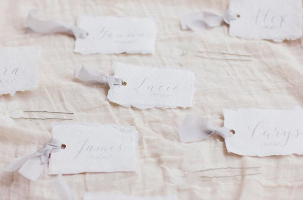 Handmade Paper Place Names