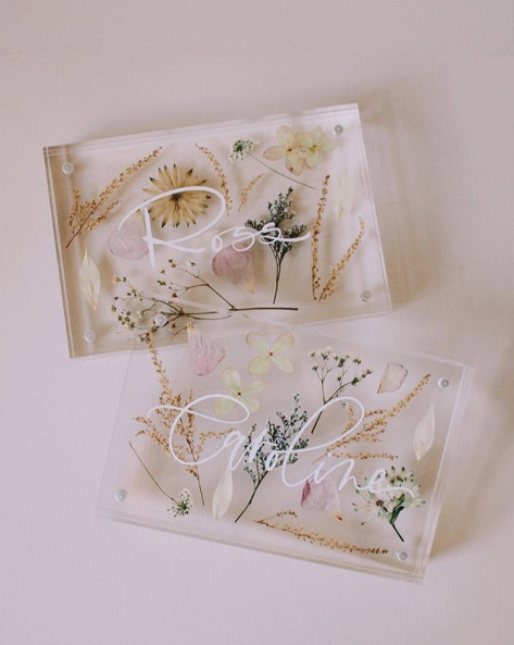 Acrylic Floral Framed Stationery