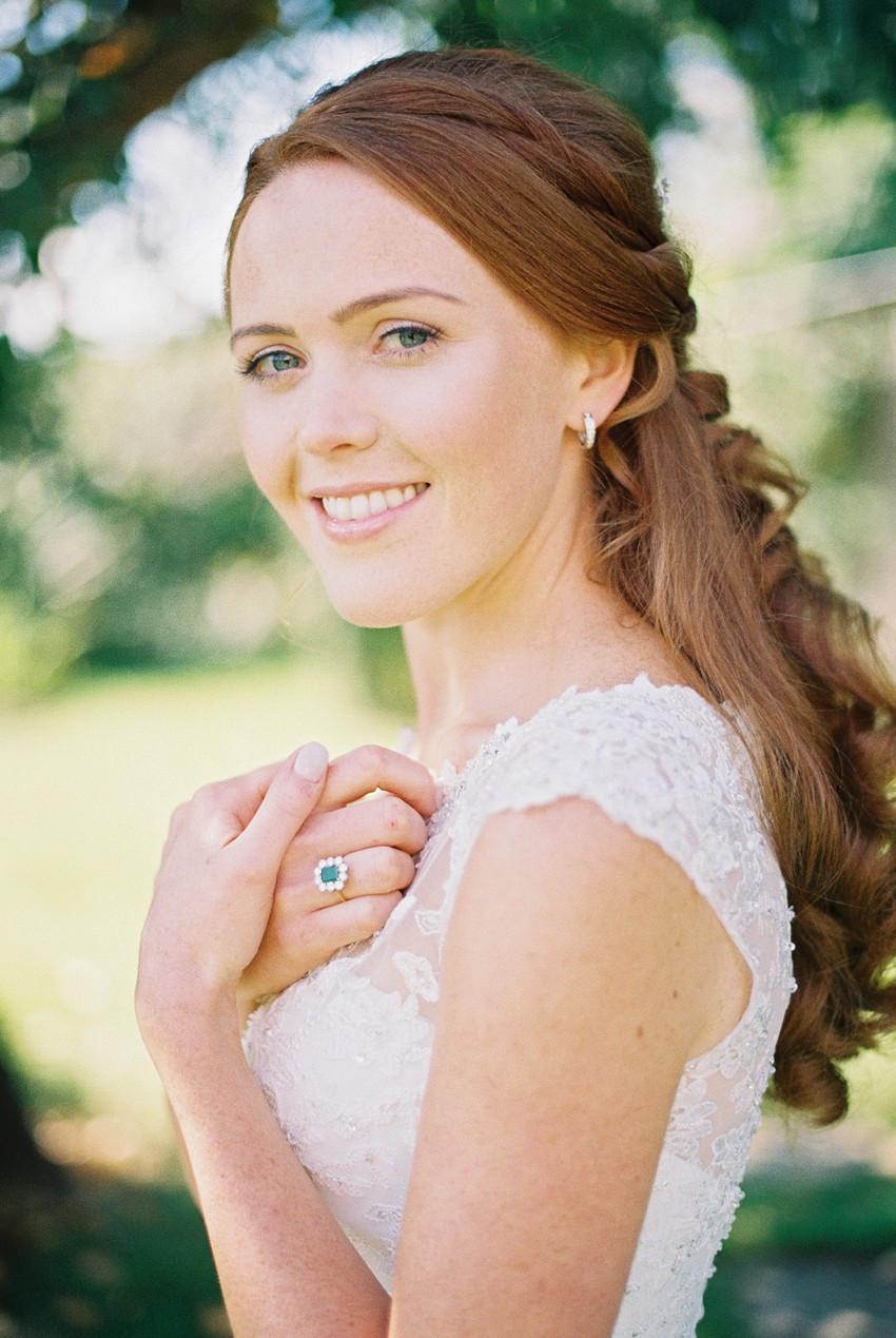 Half up Half down Elegant Bridal Hair
