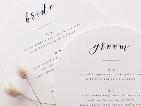 Top 5 Minimalist Wedding Stationery Designs