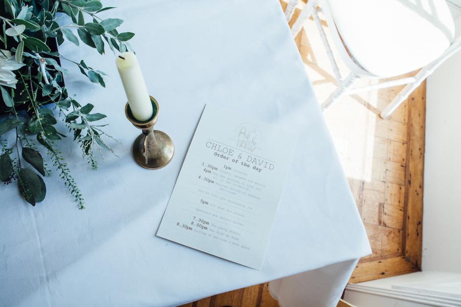Time to Plan a Wedding White Stationery Eucalyptus