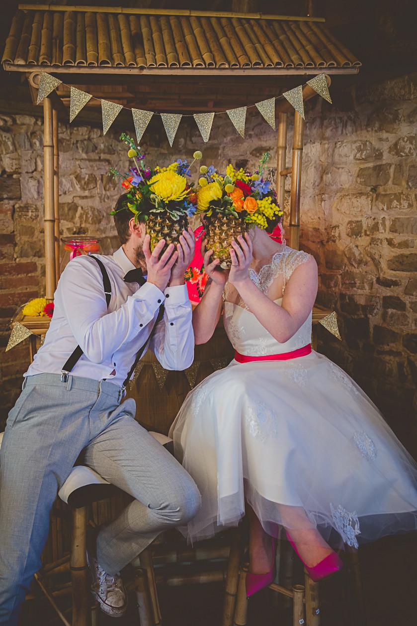 Pineapple Wedding Theme Couple