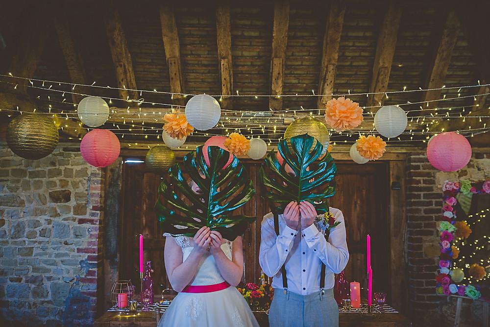 Palm Leaf Tropical Wedding