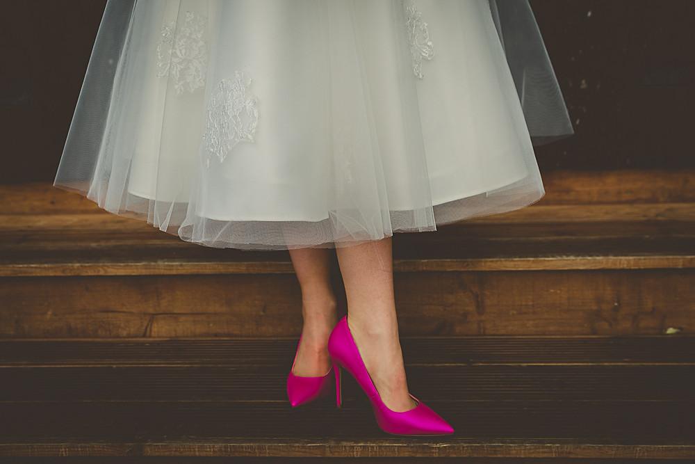 Pink Wedding Bridal Shoes