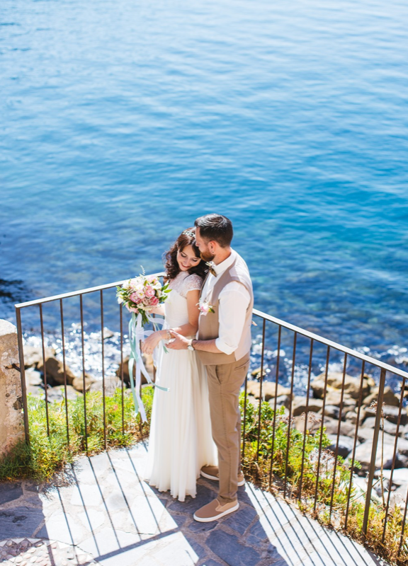 Elopement Wedding Couple Liguria