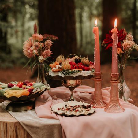 Woodland Wedding Grazing Inspiration