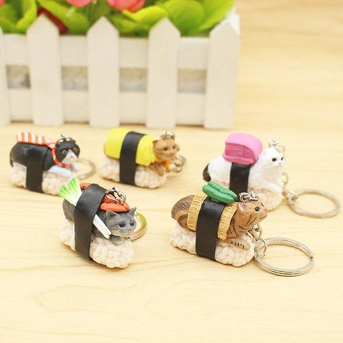 Porte-clef Chat/Sushi