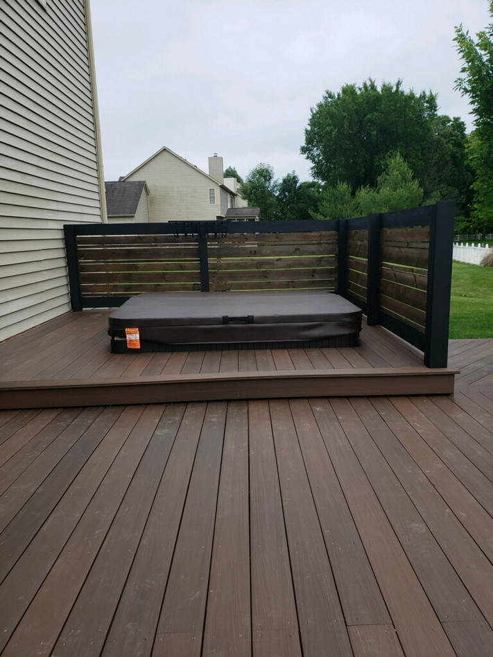 Deck and hot tub  step up