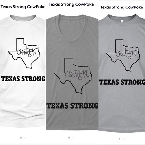 Hurricane Harvey- Texas Strong CowPoke Shirt
