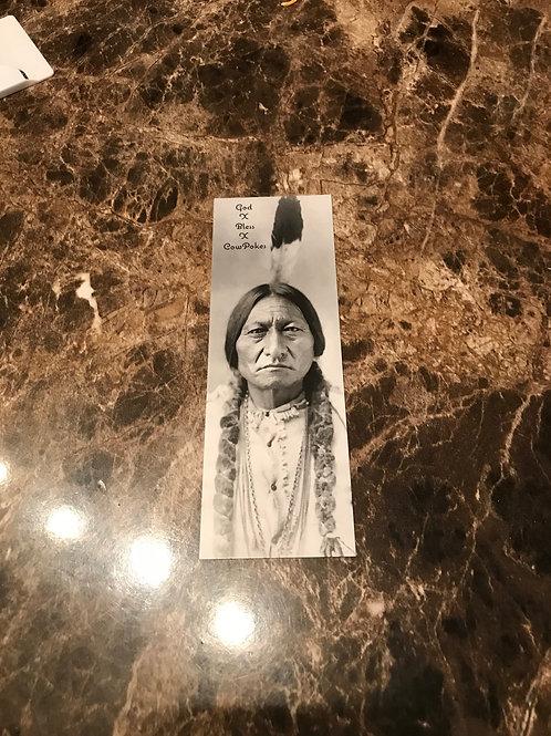 Sitting Bull CowPoke Brand Book Marker