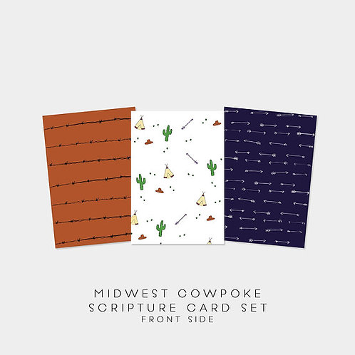 Midwest CowPoke Edition Scripture Card Set | memory verse cards | bible study gi