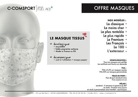 catalogue masques UNS1 UNS2